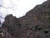 Дальше по левому берегу можно пройти только с альпинистским снаряжением