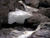 Чем ближе к водопаду тем толще лёд