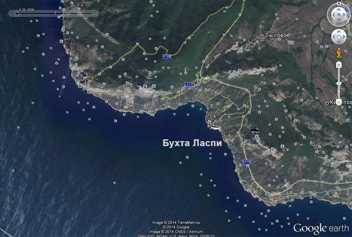 карта бухты Ласпи