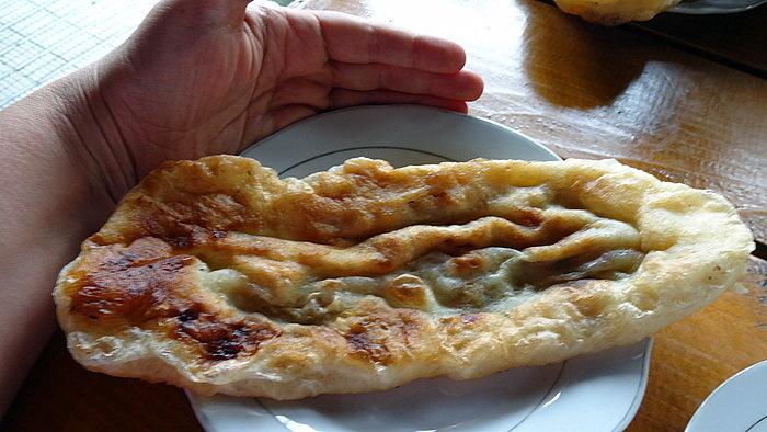 хычины - лепешка с картошкой