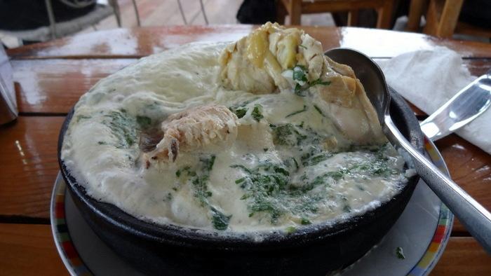 Курица (чкмерули) в сливочном соусе