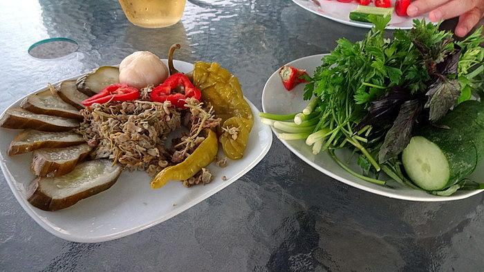 грузинские соления и зелень