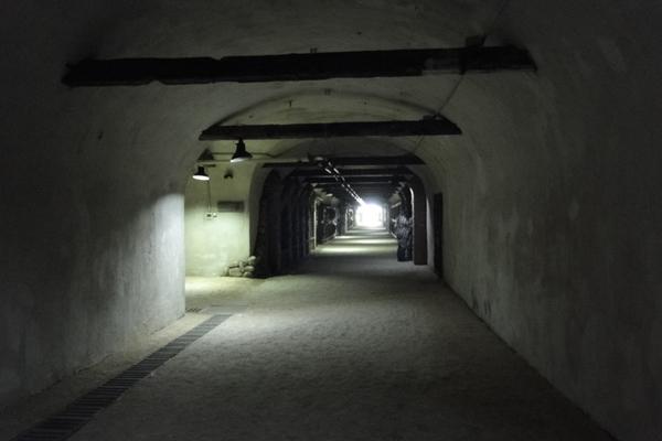 Тоннель построили в 50-х годах советские военные, прорубив два главных и тринадцать соединительных тоннелей в горе Кавкасиони, всего около 8 км ходов.