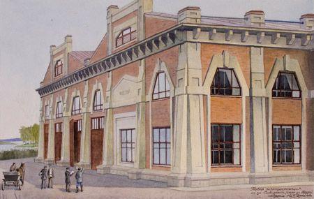 Первая электростанция по улице Сибирской (ныне улица Труда)