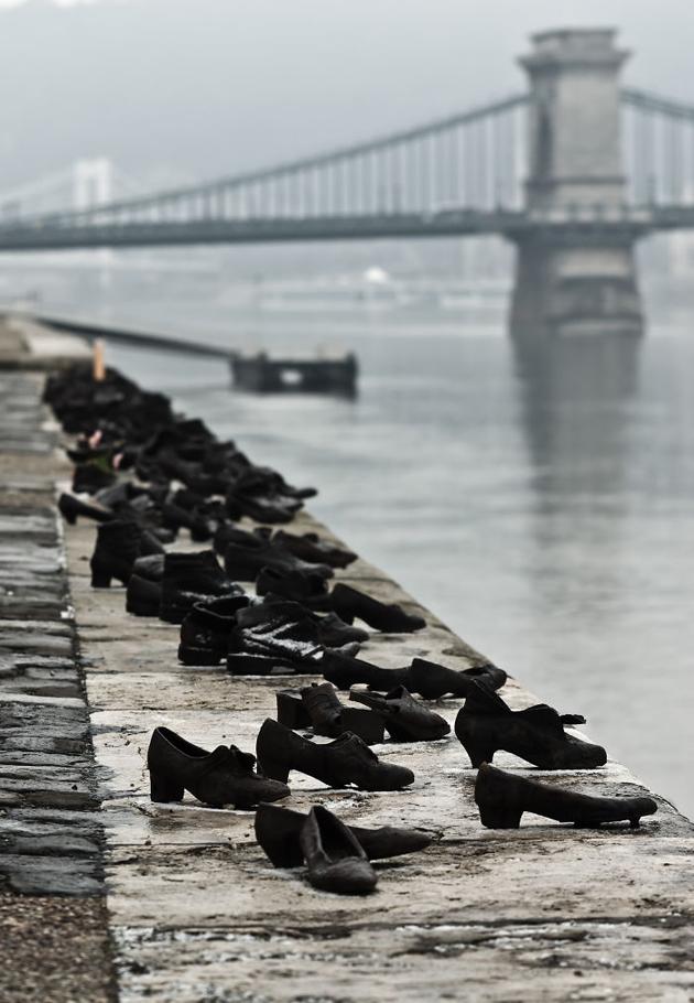 Мемориал «Ботинки на Дунае», Будапешт, Венгрия