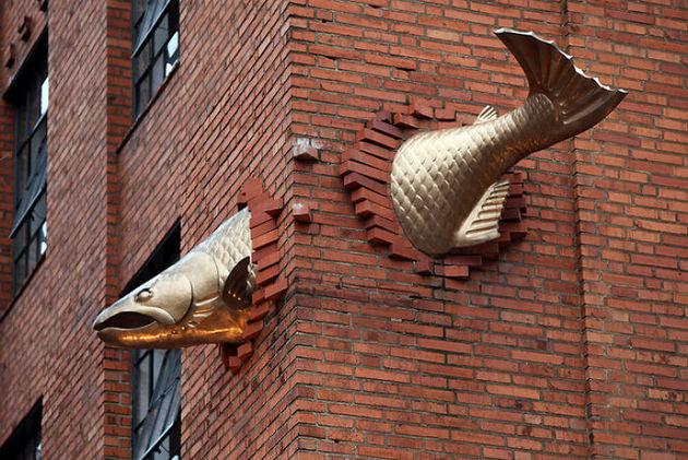Скульптура лосося, Портленд
