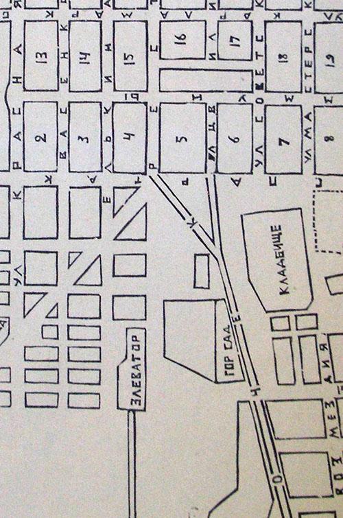 Фрагмент плана 1926 года - площадь Революции.