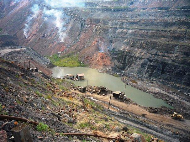 Коркинский угольный разрез - вулкан