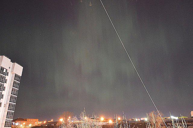 Северное сияние в перми фото Анастасия Бояршинова