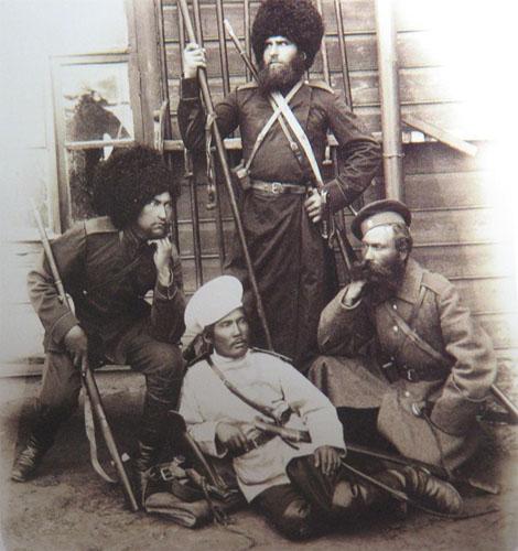 Казаки Уральской сотни Сводного лейб-гвардии казачьего полка