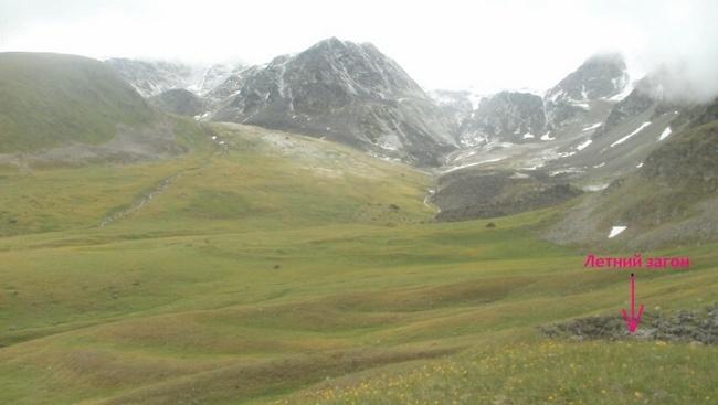 Выход на верхнюю ступень висячей долины