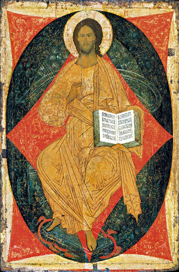 Спас в силах. Икона деисусного ряда Троицкого собора. Дионисий, 1499-1500 гг.