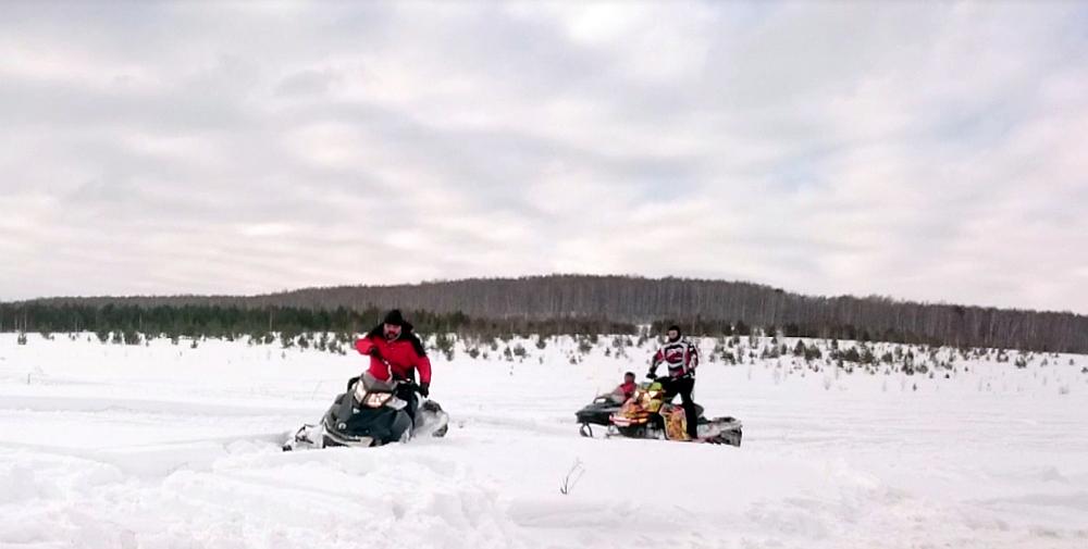 Олег Первушин гонка на снегоходах Усть-Баяк Сергей Рыжкин