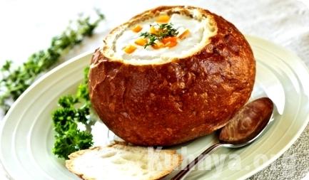 супы в хлебе